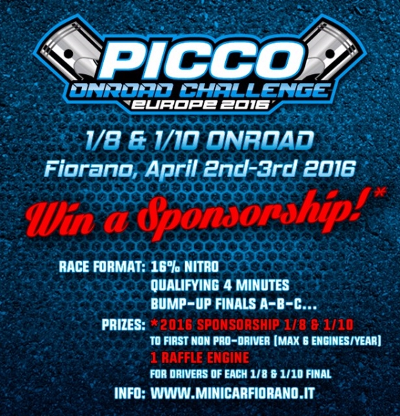 Picco Onroad Challenge 2-3 Aprile 2016